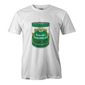 Bilde av ei t-skjorte med fiskebolleboksen
